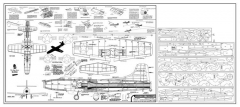 Douglas Skystreak model airplane plan